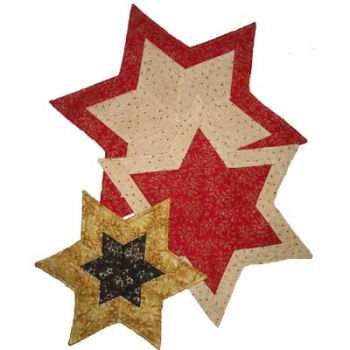 "Patchwork Sewing Instruction ""star doily """