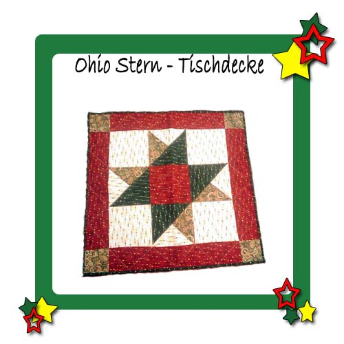 patchwork anleitung ohio star quilt quilt stick insel. Black Bedroom Furniture Sets. Home Design Ideas